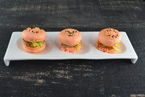 Chicken Liver Mousse Macaroons with Pumpkin, Passion Fruit, Sesame at Ad lib in Harrisburg